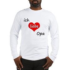 ich liebe Opa I love grandpa i Long Sleeve T-Shirt