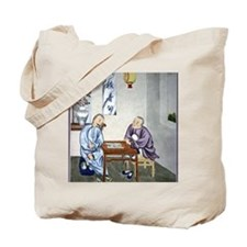 Men playing Go, artwork Tote Bag