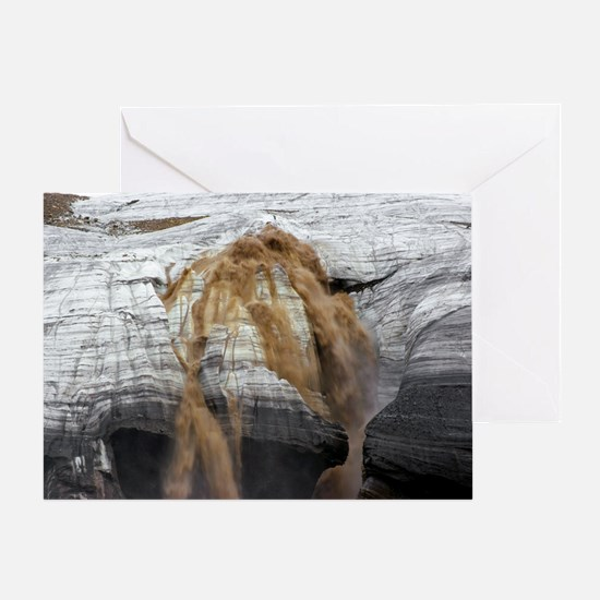 Meltwater emerging from Crusoe Glaci Greeting Card