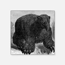 "Megatherium, 19th century a Square Sticker 3"" x 3"""