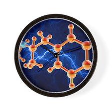 Methamphetamine drug molecule Wall Clock