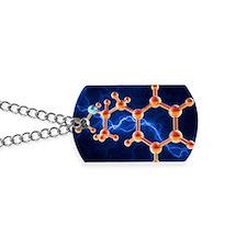 Methamphetamine drug molecule Dog Tags