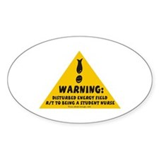 Disturbed Energy Field Oval Decal