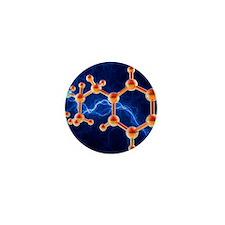 Methamphetamine drug molecule Mini Button