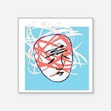 """Mental breakdown, conceptua Square Sticker 3"""" x 3"""""""
