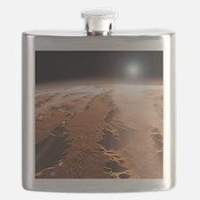 Martian surface, artwork Flask
