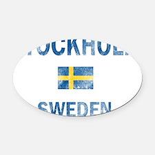 Stockholm Sweden Designs Oval Car Magnet
