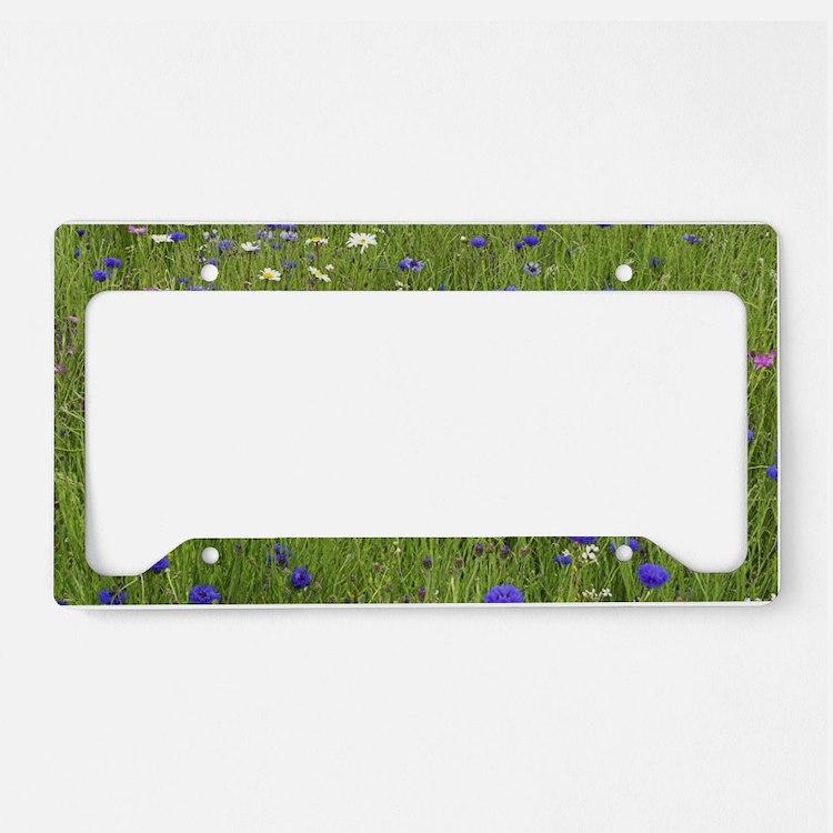 Meadow flowers License Plate Holder
