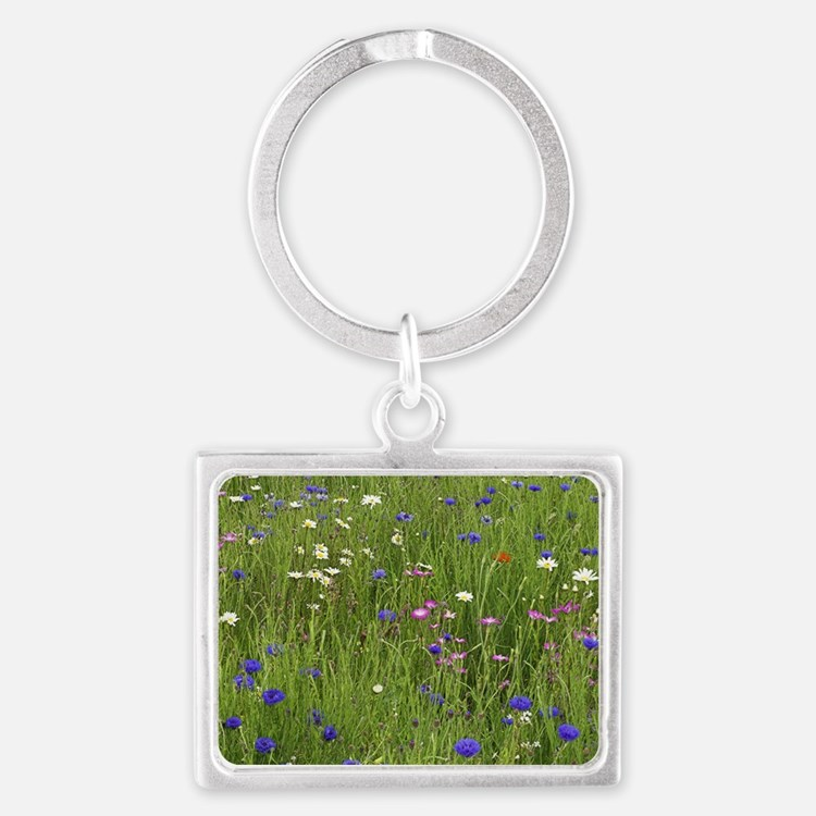 Meadow flowers Landscape Keychain