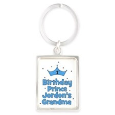 1st Birthday Prince Jordons Gran Portrait Keychain