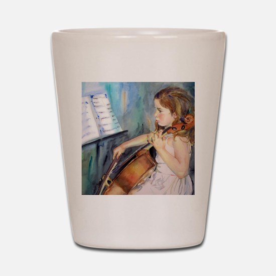 Little Girl Cellist Shot Glass