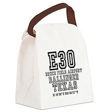 TEXAS - AIRPORT CODES - E30 - BRU Canvas Lunch Bag