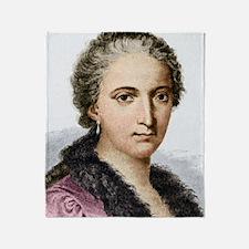 Maria Agnesi, Italian mathematician Throw Blanket