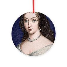 Marguerite de la Sabliere, arts pat Round Ornament