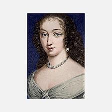 Marguerite de la Sabliere, arts p Rectangle Magnet