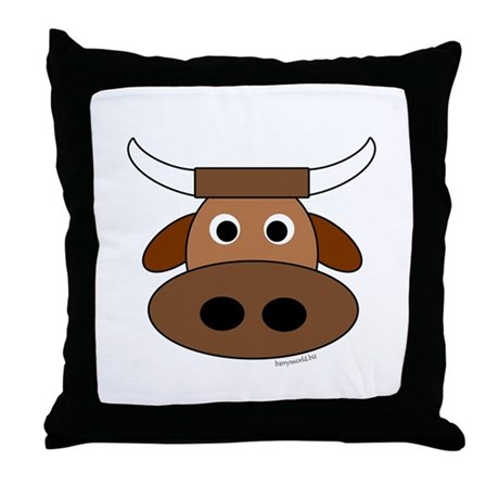 Ollie the Ox Throw Pillow