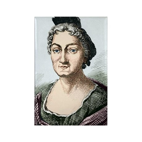 Maria Merian, German naturalist Rectangle Magnet