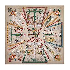 Mixtec 5 Worlds- Tile Coaster