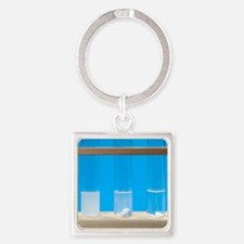 Marble in different strength acids Square Keychain