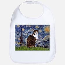 Starry Night & Calico Cat (#1 Bib