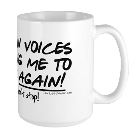 Listen to the fishing voices Large Mug