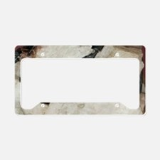 Manganite in barite License Plate Holder