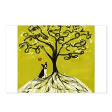 Boston Terrier love Tree of life heart Postcards (