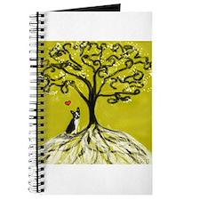 Boston Terrier love Tree of life heart Journal