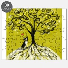 Boston Terrier love Tree of life heart Puzzle