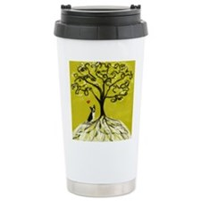 Boston Terrier love Tree of life heart Travel Mug
