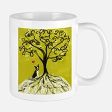 Boston Terrier love Tree of life heart Mugs