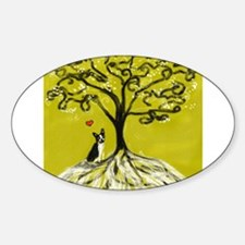 Boston Terrier love Tree of life heart Decal