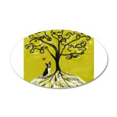 Boston Terrier love Tree of life heart Wall Decal