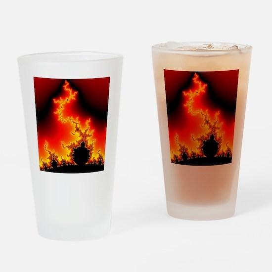 Mandelbrot fractal Drinking Glass
