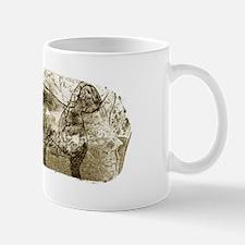 Mammoth, prehistoric bone art Mug