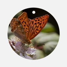 Male Silver-washed Fritillary Butte Round Ornament