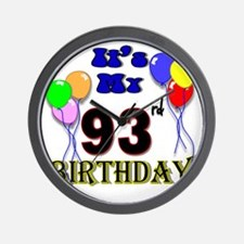 93rd birthday Wall Clock