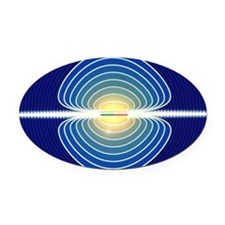 Magnetic field Oval Car Magnet