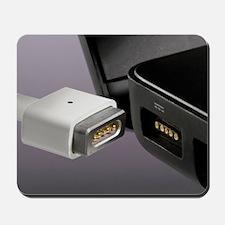 Magnetic break-away power cord Mousepad