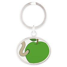 Apple Oval Keychain