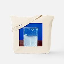 Magnesium reacting with acid Tote Bag