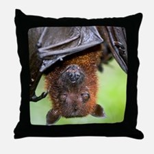 Malayan Flying Fox Throw Pillow