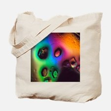 Lysozome protein crystals Tote Bag