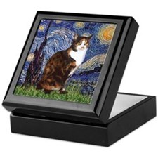 Starry Night & Calico Cat (#1 Keepsake Box