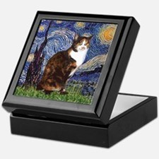 Starry Night & Calico Cat (#1 Keepsake Box