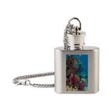 Lyretail anthias and soft corals Flask Necklace