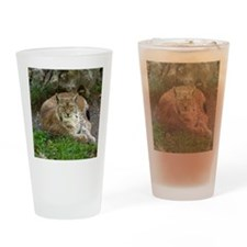 Lynx Drinking Glass