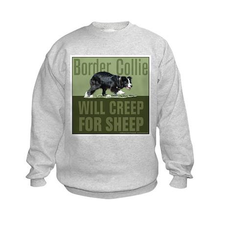 Border Collie Creep for Sheep Kids Sweatshirt