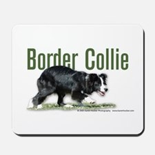 Creeping Border Collie Mousepad