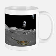Lunar shuttle landing, artwork Mug